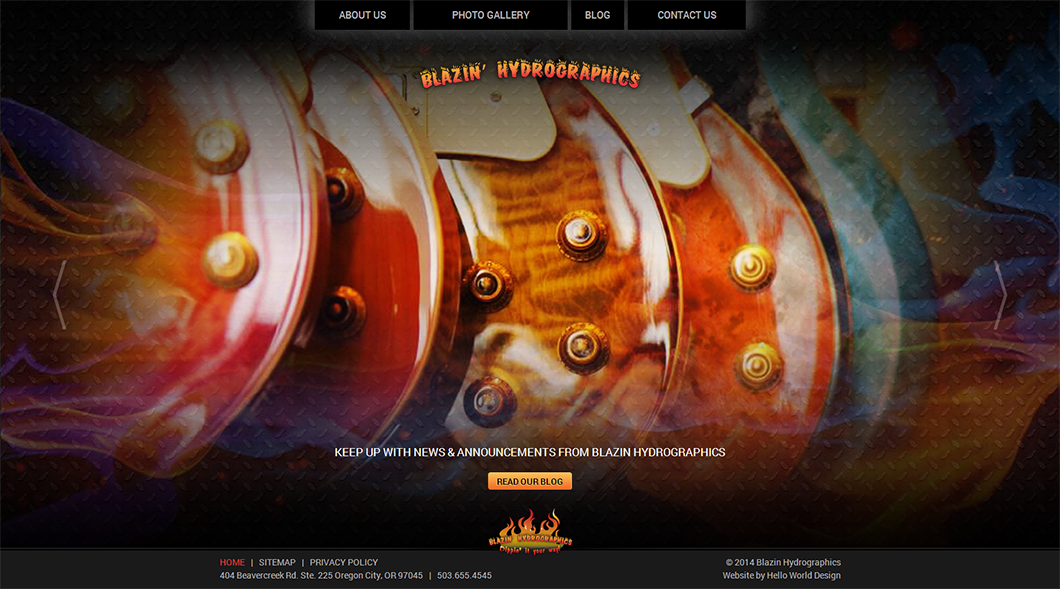 Blazin Hydrographics Custom Website